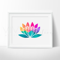 Geometric Lotus Flower