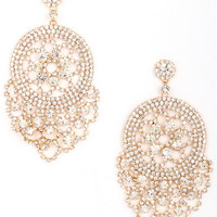 Madison Avenue Statement Earrings in Gold