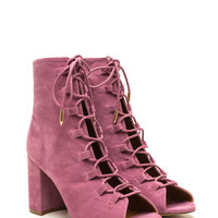 Daily Strut Lace-Up Chunky Booties