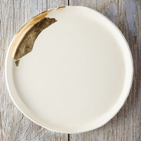 Gold Brushstroke Circle Tray