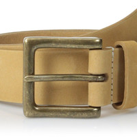 Timberland Men's 38 mm Boot Leather Belt Wheat 36 US