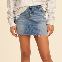 Girls Low-Rise Denim Mini Skirt | Girls Bottoms | HollisterCo.com