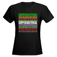 Supernatural Quotes Tee on CafePress.com
