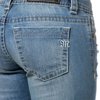 Miss Me Patched-Up Cuffed Skinny Jeans