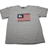 Polo Jeans Company Ralph Lauren American Flag T-Shirt Made in USA Mens Size Medium