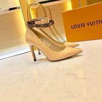DCCK LV Louis Vuitton Women's Leather High-heeled Shoes