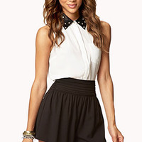 Pleated Crepe Woven Shorts