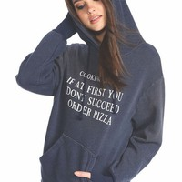 Wildfox Couture Cooking Rule Cuddles Hoodie in Dirty Oxford