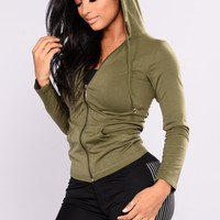 Classic Seamless Hoodie - Olive