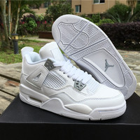 Air Jordan 4 Pure Money GS Unisex Leather Basketball Shoe