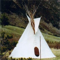 Natural Canvas Sioux Tipi | Tipi Construction Kit | Build a Tipi Kit | Teepee