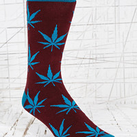 """""""Weed"""" Socken in Lila und Rot - Urban Outfitters"""