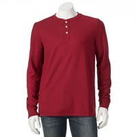 Croft & Barrow Classic-Fit Solid Easy-Care Pique Henley