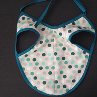 Baby Bib, Gender Neutral Bib, Stay in Place, Stay Clean, Bib Apron, Unique Baby Gift, Baby Shower Gift, Baby, Bib Apron Combo, Polka Dots
