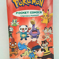 Pokemon Clutch Bag - Upcycled Comic Book Purse