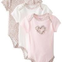 Little Me Baby-Girls Newborn Leopard 3 Pack Bodysuit