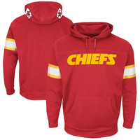 Kansas City Chiefs Majestic Helmet Synthetic Pullover Hoodie – Red