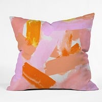 Rebecca Allen Covered in Blush Throw Pillow