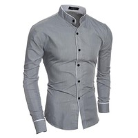 New Men's Sexy Button Up Dress Shirt