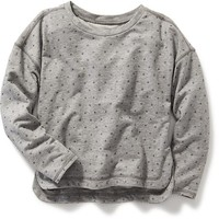 Old Navy Oversized French Terry Pullover For Girls