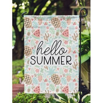 Hello Summer Garden Flag