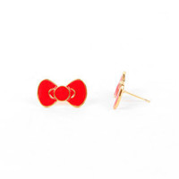 Cute as a Bow Earrings $8 (on sale from $10)