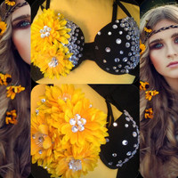 34B: Sunflower- Rave Wear, Rave, EDC, EDC Outfit, Festival Outfit, Rave Outfit, EDC Outfit
