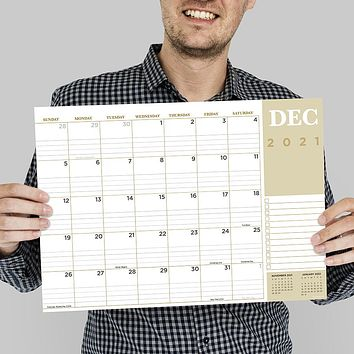 July 2021-June 2022 Professional Mini Desk Pad Monthly Blotter Calendar