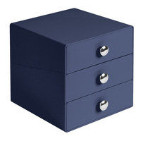 Navy 3 Drawer Storage Organizer Solution  Beauty Makeup Cosmetic Fashion Jewelry Crafts
