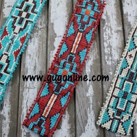 Beaded Headbands in Aztec Designs