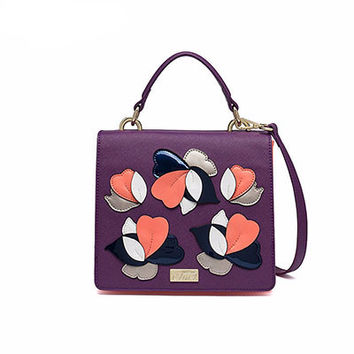 Appliques Crossbody Bag By Cluci