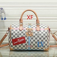 Louis Vuitton LV Women Fashion Leather Travel Crossbody Bag Tote Satchel