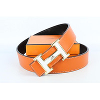 Hermes belt men's and women's casual casual style H letter fashion belt419