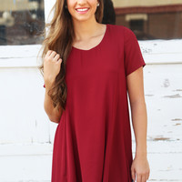 Tiny Dancer Dress {Maroon}