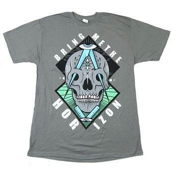 Bring Me The Horizon Skull Diamond Eyes Grey T Shirt New Official BMTH|T-Shirts