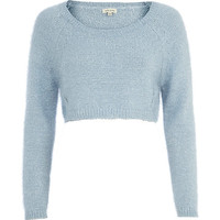 River Island Womens Blue cropped sweater