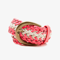 Faux Leather Braided Rope Belt