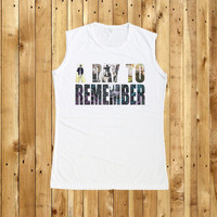A Day to Remember Tank Top Women Muscle Tee White T-Shirt Size S M L