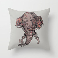 I Forget Where We Were Throw Pillow by Huebucket