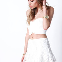 WHITE SWEETHEART MOD BUSTIER TOP