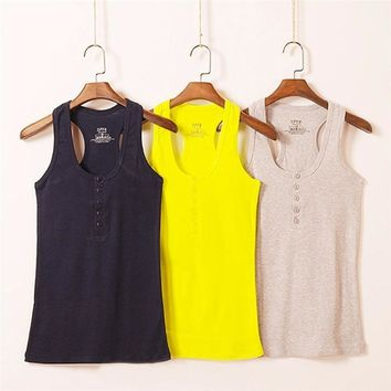 Tank Top Summer Solid Tanks Camisole Fitness Women Tops Vest Tank Shirt Basic Casual Clothing Camis