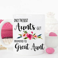 Aunts promoted to great aunt, Great aunt, Coffee, Great aunt gifts, Aunt gifts, Aunt mug, Auntie, Coffee mug, Great Aunt Birthday, Aunt