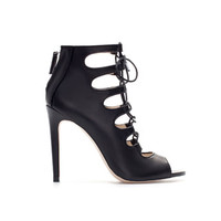LEATHER ANKLE BOOT STYLE SHOE - Studio - Woman | ZARA United States