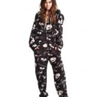 Black DeadMau5 Adult Footed Pajamas