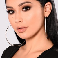 Out Shine Hoop Earrings - Gun Metal