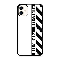OFF WHITE LOGO VERTICAL iPhone 11 Case