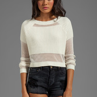 Somedays Lovin Parallels Block Knit Crop Sweater in White from REVOLVEclothing.com