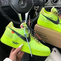 Trendsetter Nike Air Force 1 OFF-WHITE OW Sport Shoes Sneakers Shoes