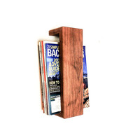 Walnut Floating Magazine Rack