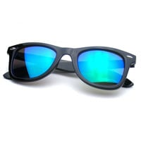 Reflective Revo Mirror Color Lens Classic Retro Wayfarer Sunglasses